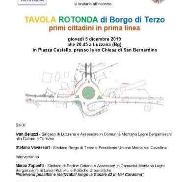 Statale 42, nuova assemblea il 5 dicembre per fare il punto sulla rotonda di Borgo