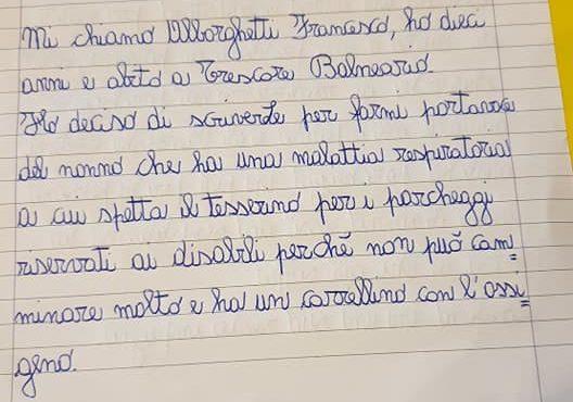 """Trescore-  un alunno scrive al sindaco: """"Metta più parcheggi per disabili all'ospedale"""""""