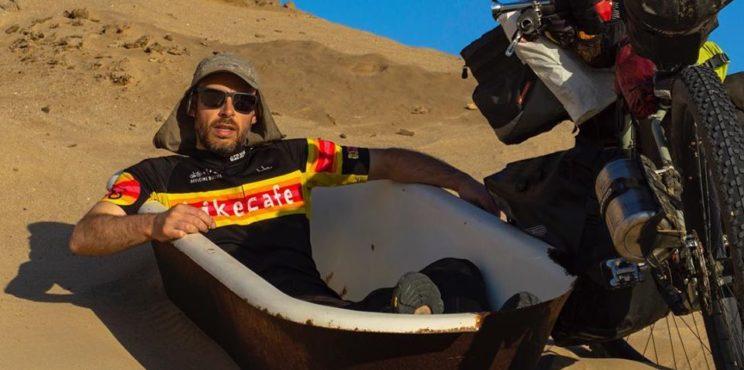 Cenate Sotto – Davide Travelli il biker mondiale, attraversa in bici l'America e l'Africa