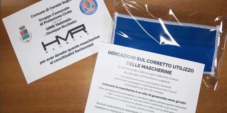 L'HMR riconverte la produzione e regala mascherine ai comuni della valle Cavallina