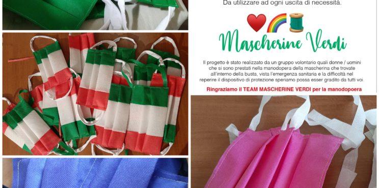 Le mascherine verdi che dalla valle Cavallina sono arrivate anche a Terni e Gorizia