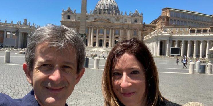 Grumello, l'ex consigliere Massimiliano De Vecchi ricevuto dal Papa con la delegazione lombarda