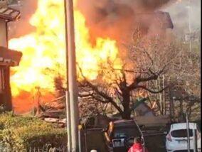 Berzo San Fermo – Fiamme e un'esplosione in un'abitazione, il video