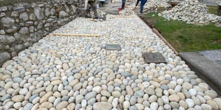 Sovere: Al Santuario della Madonna della Torre nuovo muro e  percorso pedonale